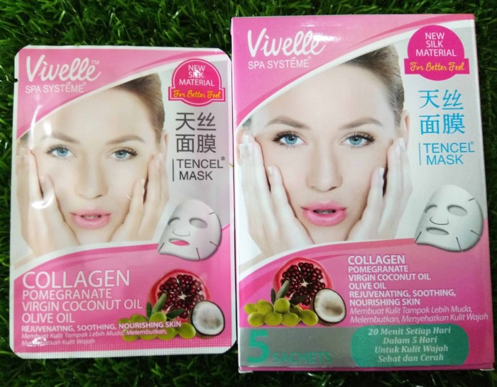 Jual vivelle collagen POMEGRANATE face mask 25g - masker wajah vivelle box - Kab. Sidoarjo - Modus Clothing | Tokopedia