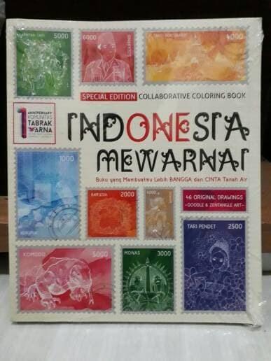 Jual Indonesia Mewarnai Collaboration Coloring Book Gilabuku