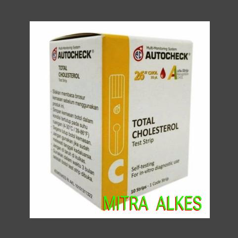 Foto Produk Blood Cholesterol Autochek. Stik Colestrol Autocek. Refil Kolestrol dari MITRA  ALKES