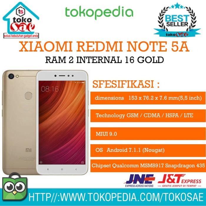 harga Hp xiaomi redmi note 5a ram 2gb internal 16gb gold android xiomi 2 16 Tokopedia.com