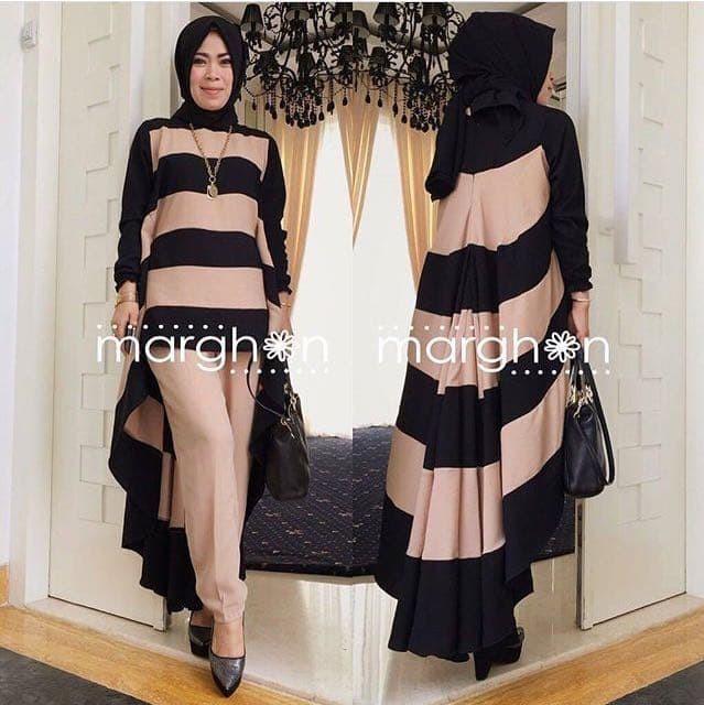Foto Produk [kanaka set black NI] setelan muslim wanita jersey hitam dari FASHIONISTA's GROSIR