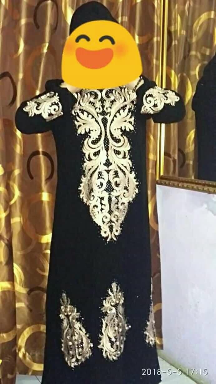 Jual Abaya Gamis Arab Hitam Bordir Esklusive Afbry Tokopedia Gold