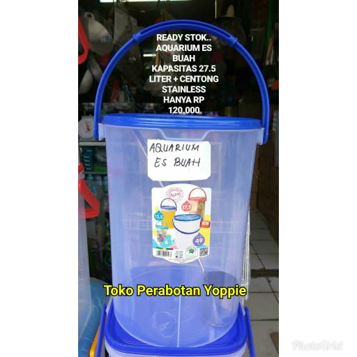 harga Aquarium es kelapa - aquarium es buah - aquarium plastik 275 liter Tokopedia.com