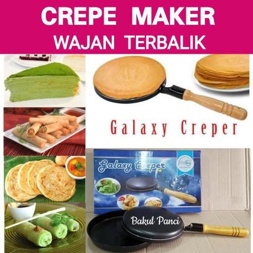 harga Crepe maker bistro wajan kwalik terbalik cetakan kue kulit lumpia Tokopedia.com