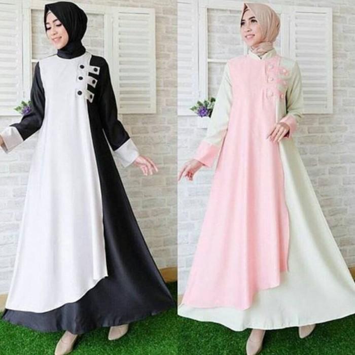 Jual Gaun Pesta Dress Panjang Strip Samping Luxxis Tokopedia