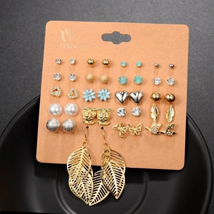 Earrings set - alyssa / anting tusuk / giwang import