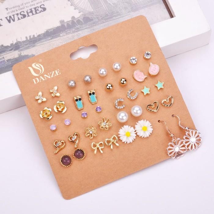 Earrings set - adeline / anting tusuk / giwang import