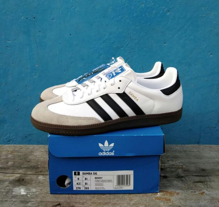 81ad60325 Original 100%! sepatu casual adidas samba og white black bnib harga ...