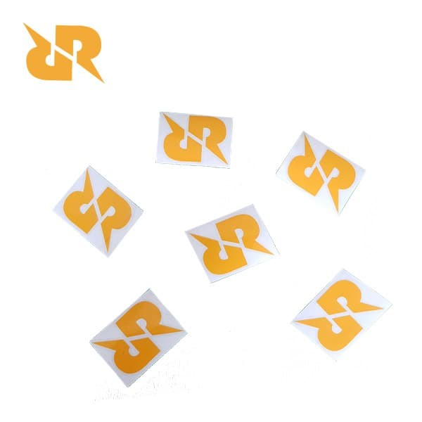 sticker logo rr satuan 6 cm (6 pcs)