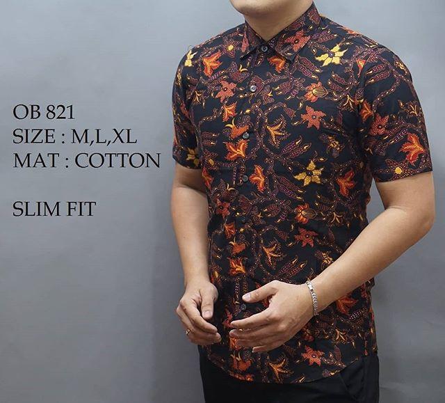 harga Kemeja batik pria slim fit / baju batik pria slim fit ob821 Tokopedia.com