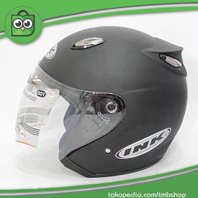 Best Seller Helm Best 1 Hitam Doff Model Ink Centro 2