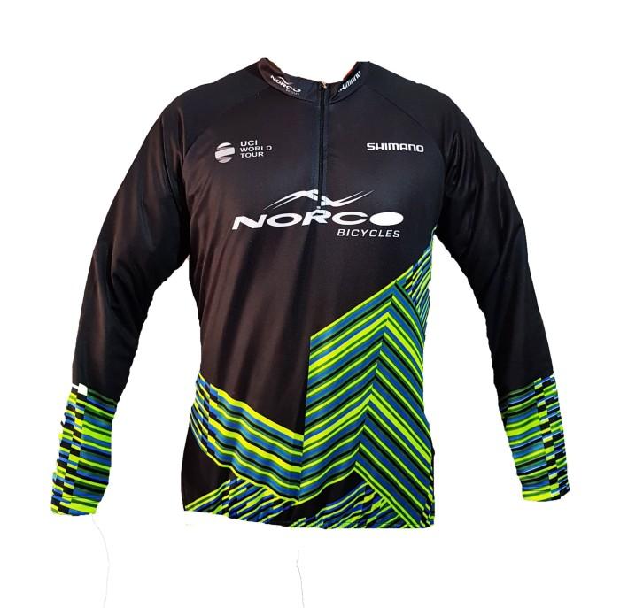 Kaos jersey sepeda baju gowes lengan panjang roadbike shimano b048 mtb