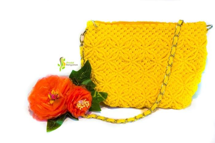 Foto Produk Tas Slempang Tali Kur Kuning dari Produk Desa Banyumas
