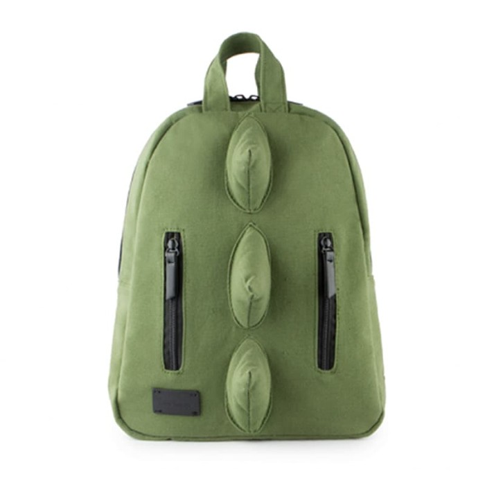 7 a.m. voyage mini dino cotton backpack tas ransel anak - army