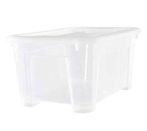 Ikea samla kotak dengan penutup transparan 28x20x14/5l