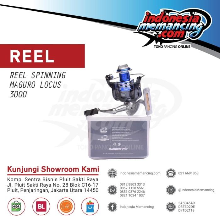 harga Reel spinning maguro locus 3000 Tokopedia.com