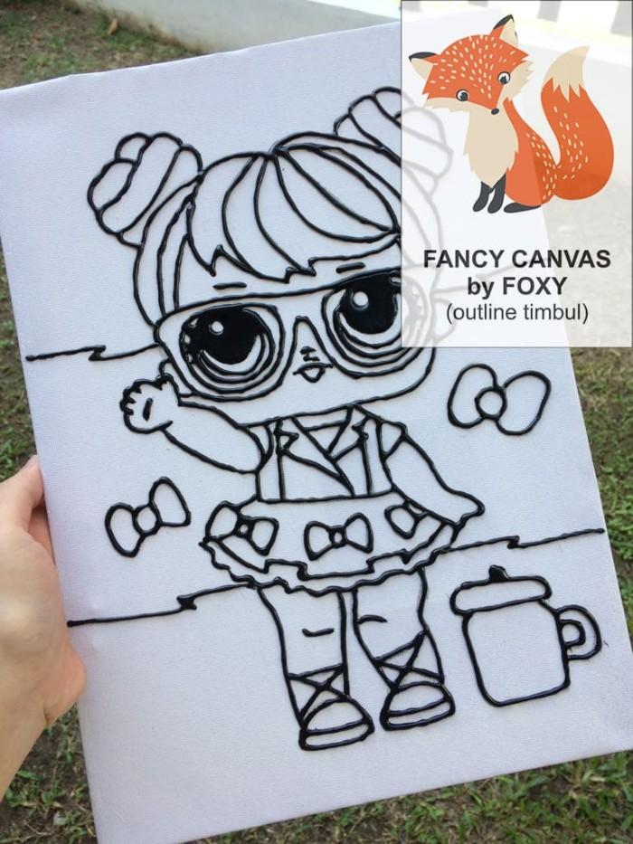 Jual Kanvas Lukis Anak Gambar Lol Surprise Doll Fox Art Tokopedia