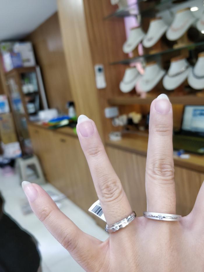 harga Cincin couple mas putih 75 Tokopedia.com