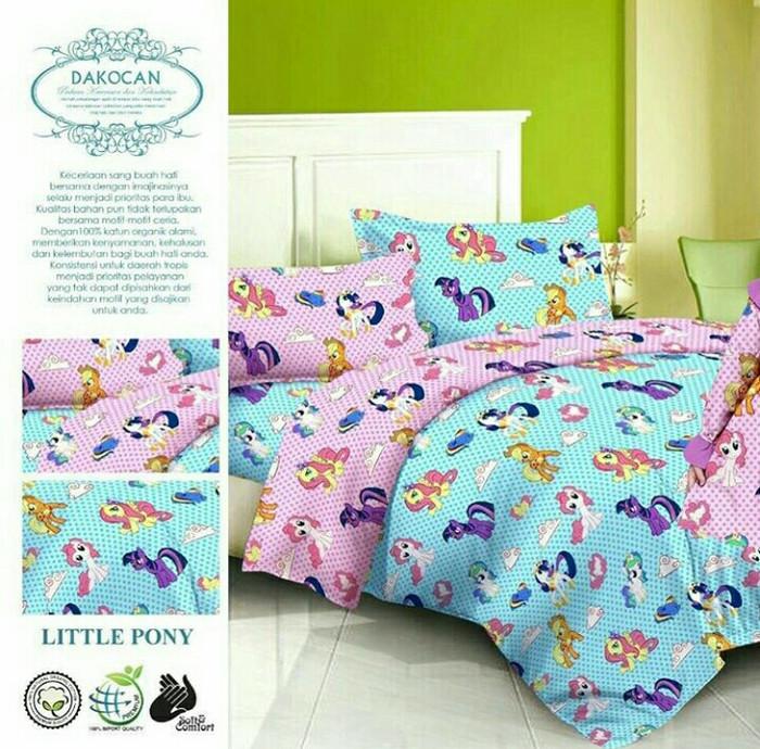 Jual Bed Cover Set Katun Halus Little Pony Unicorn Size 160x200