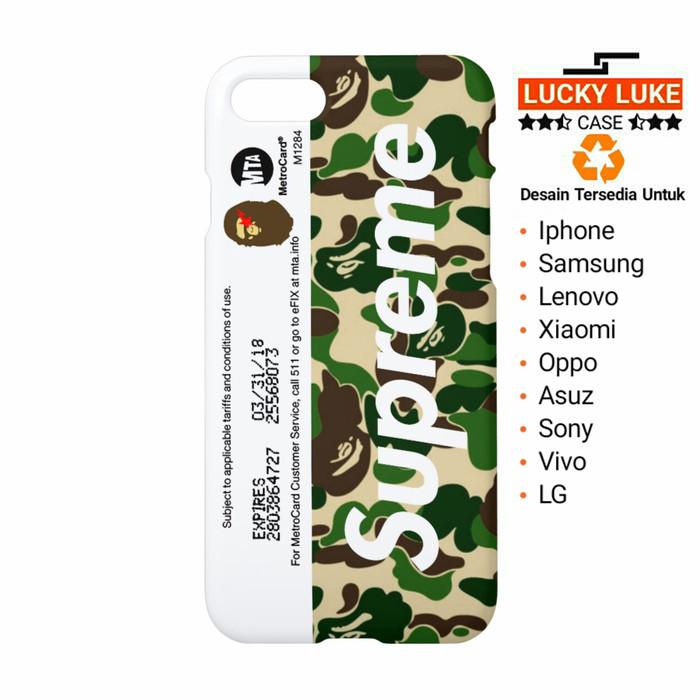 new concept 0c24c 26f1a Jual Supreme metro card bape case iPhone 6 8 x Samsung s9 s8 vivo v9 v5 y31  - Jakarta Pusat - Lucky Luke Case   Tokopedia