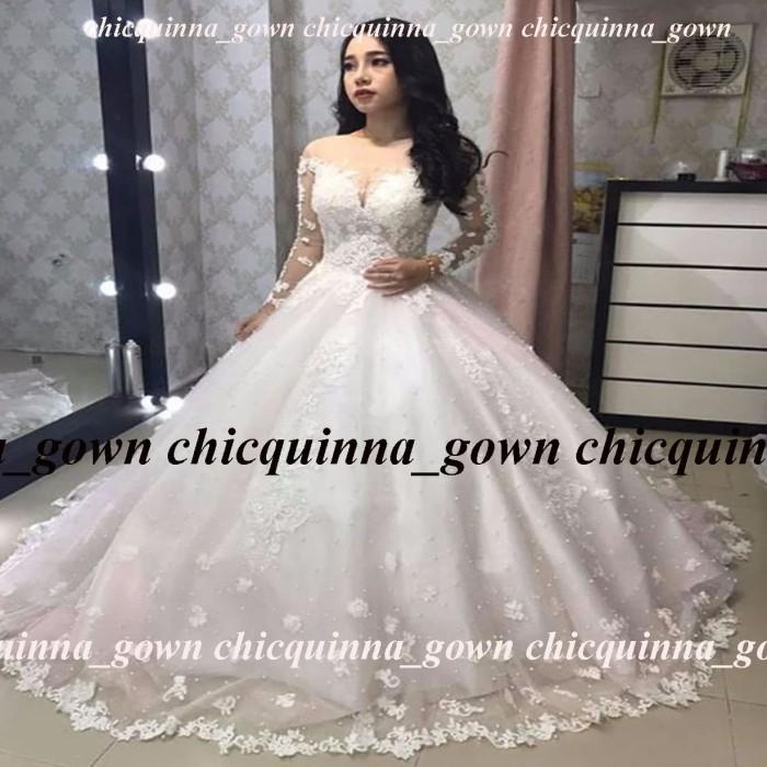 Jual Baju Pengantin Muslim Wedding Gown Brokat Mewah Gaun Pengantin