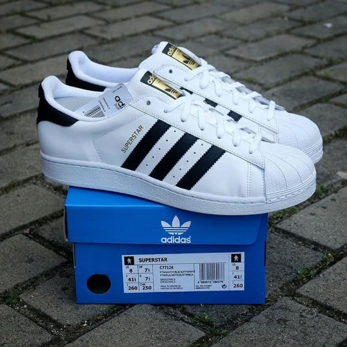 Jual Sepatu Adidas Superstar White black Original Bnwb  6c29684833