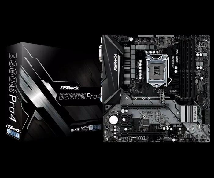 ASRock B360M Pro4 (LGA1151, B360, DDR4, USB3.1, SATA3)