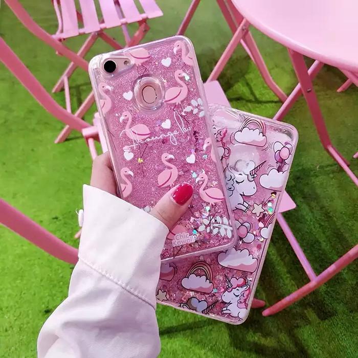 harga Glitter pasir liquid case oppo f5/youth/plus unicorn flamingo bling Tokopedia.com