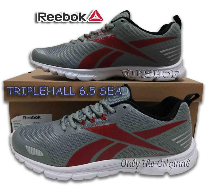 Sepatu REEBOK TRIPLEHALL 6.5 SEA. Men.Flat Gry Red Blk Wht. CN1932 - Flat  Grey 3b492e4c7a
