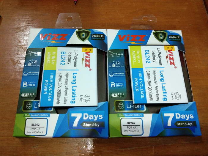 harga Batre baterai battery double power vizz bl242 bl 242 lenovo a6000 Tokopedia.com