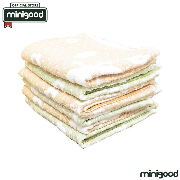 minigood handuk anak bahan cotton lembut motif kartun lucu 2pcs 76837