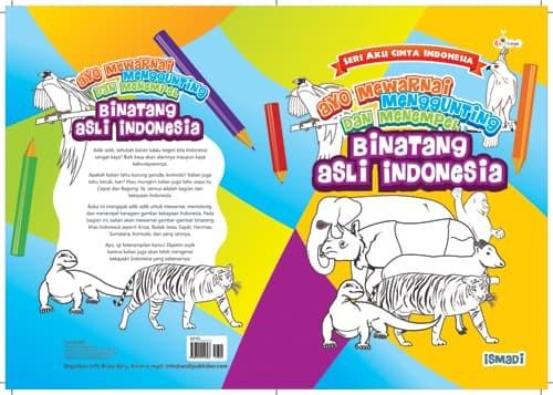 Jual Ayo Mewarnai Menggunting Dan Menempel Binatang Asli Indonesia