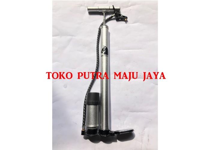 harga Pompa ban sepeda/motor/mobil (tabung meter manual stainless) Tokopedia.com