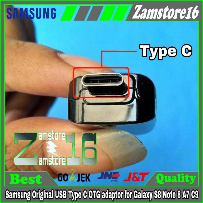 harga Samsung original usb type c otg adaptor for galaxy s8 note 8 a7 c9 Tokopedia.com