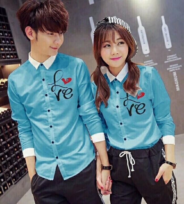 Terlaris BLUE CP LOVE Pakaian Wanita Sweater Setelan Set Ootd Jaket B