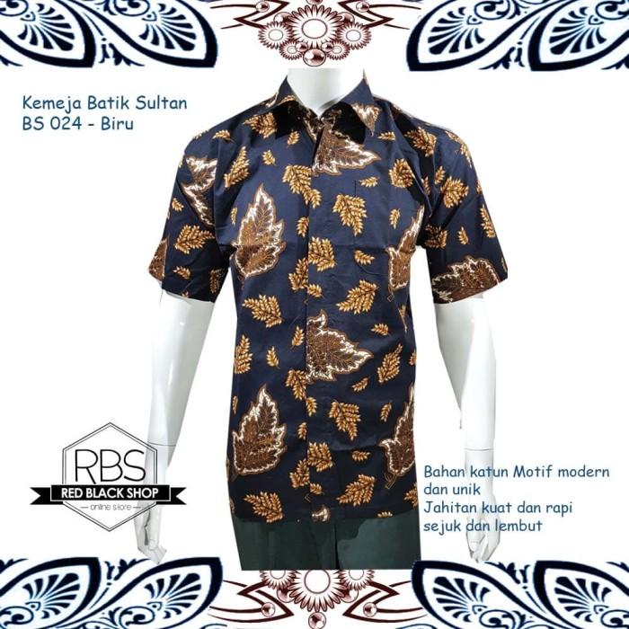Jual Batik Sultan Baju Kemeja Batik Modern Pria Bs 024 Hitam Kuning Size S Redblackshop Tokopedia