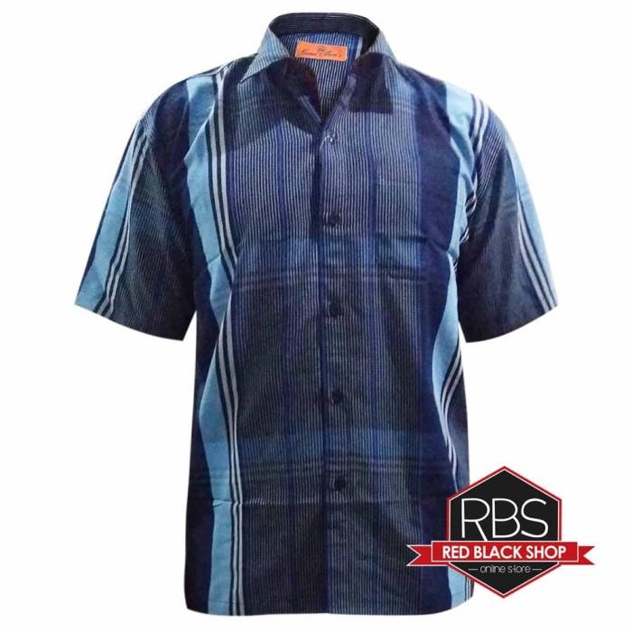 harga Grass men's baju kemeja pria casual gm 012 - biru l Tokopedia.com