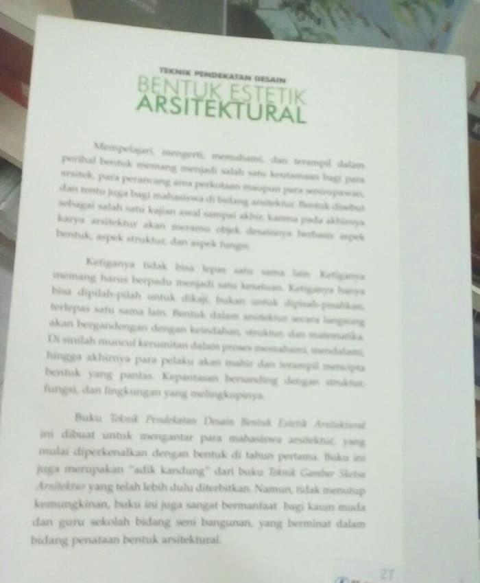 teknik pendekatan desain bentuk etstetik arsitektural - ORIGINAL