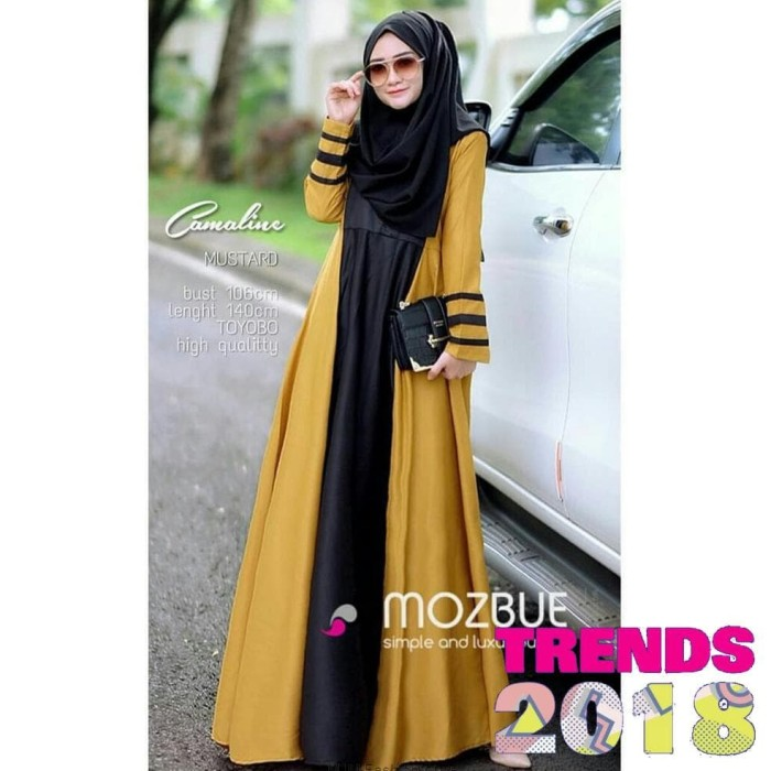 Foto Produk Dress Cameline Busui Gamis Syari Maxi Dress Muslim Fashion dari MJM Fashion