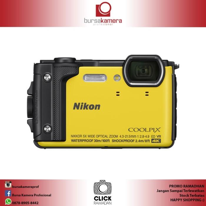 harga Nikon coolpix w300 digital camera (yellow) Tokopedia.com