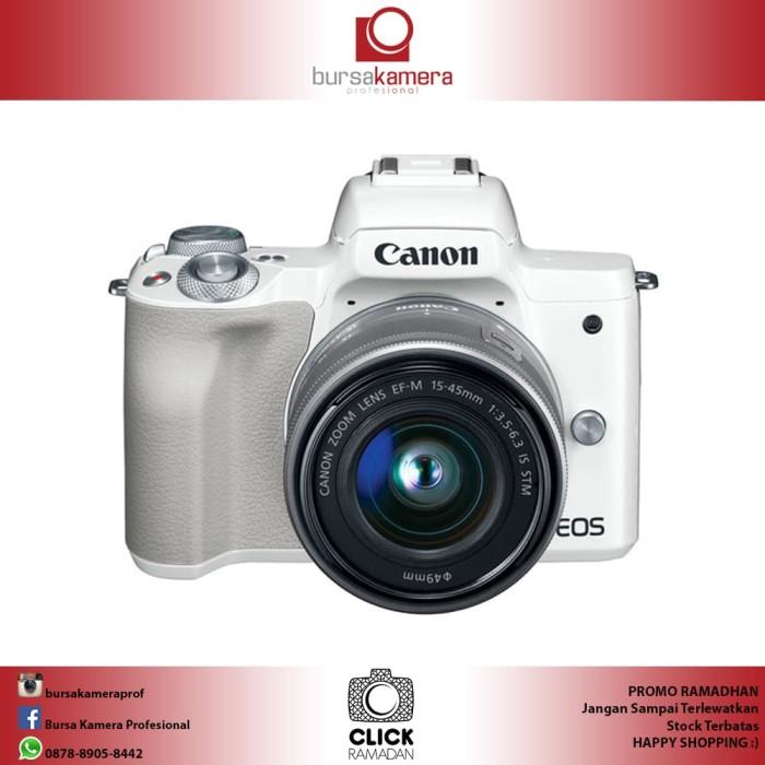 harga Canon eos m50 mirrorless with 15-45mm white Tokopedia.com