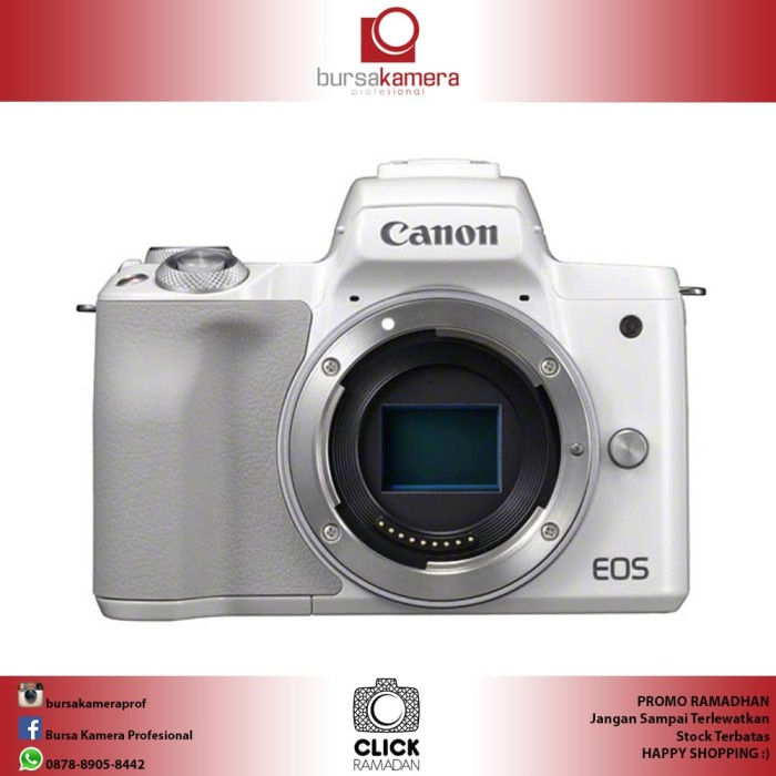 harga Canon eos m50 mirrorless digital camera body only white Tokopedia.com