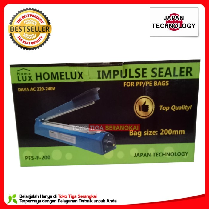 Homelux Impulse Sealer PFS 200 Alat Press Plastik 20 cm .