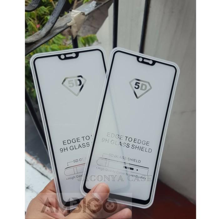 Foto Produk Ambigo Tempered Glass 5D OPPO F7 Full Cover - Hitam dari Jagonya Case