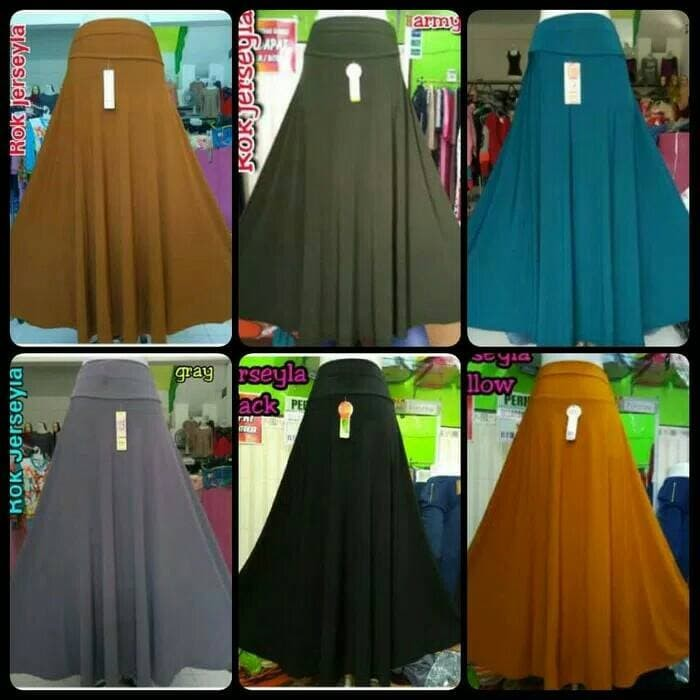 harga Rok jersey - rok muslim - rok syar'i - rok wanita - rok payung Tokopedia.com