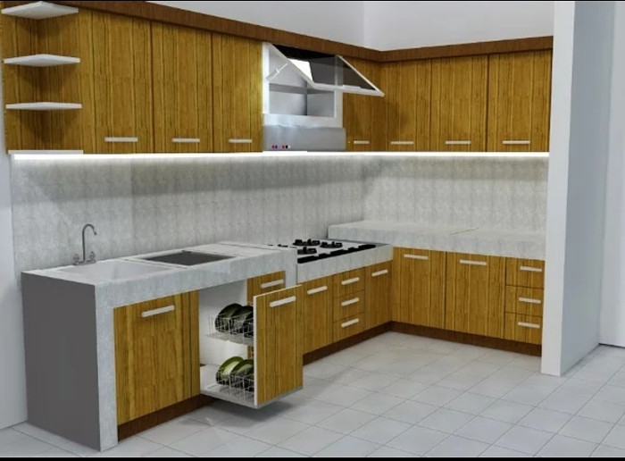 List Harga Kitchen Set Minimalis Mewah Terbaru September 2018