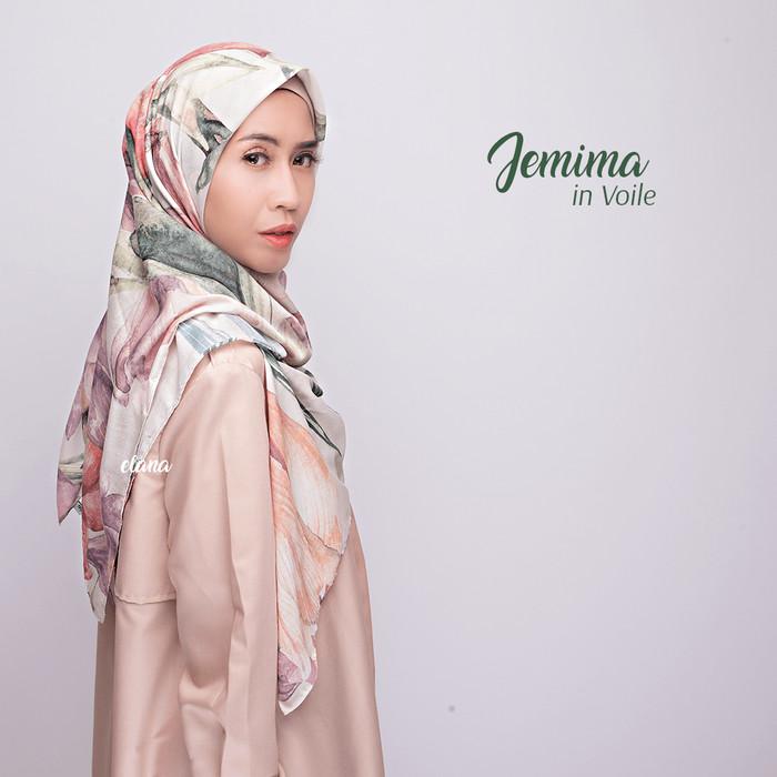 Jemima in voile / hijab printed segi empat voal