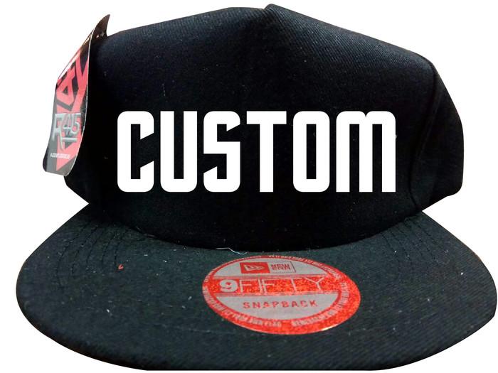 Jual topi snapback hiphop custom suka suka murah pakai polyflex ... 62b799e9ff