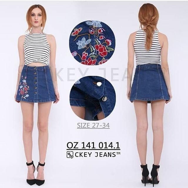 harga Rok celana jeans wanita lavender skort bigsize big size bordir murah Tokopedia.com
