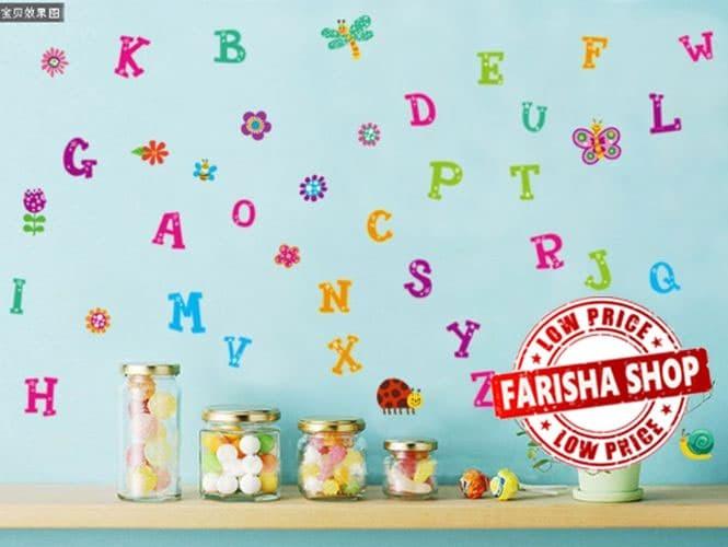 jual alphabet jm8321- stiker dinding / wall sticker (50x70) - kota